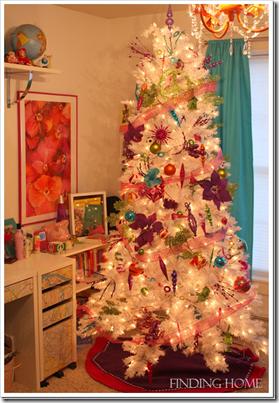 рождественский декор в детской - елка