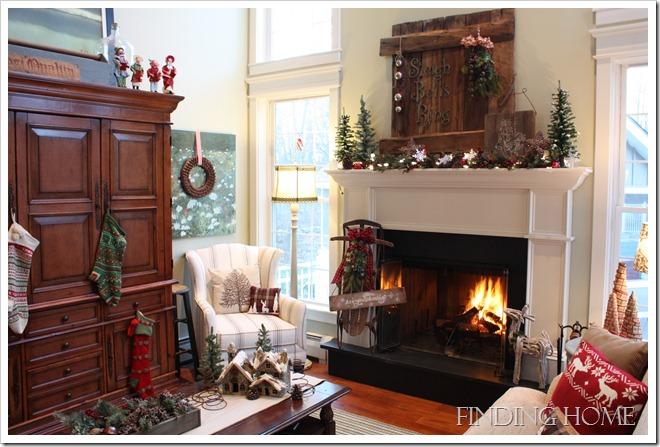 Рождественское декорирование гостиной
