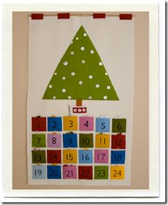 адвент календарь сделанный вручную