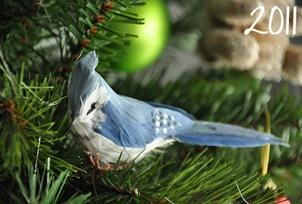 елочное украшение в виде птички
