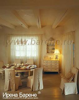 Кухня в стиле шале обеденный стол дижайнер Барене