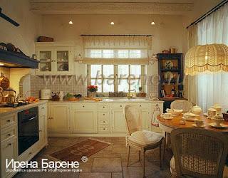 Кухня в стиле шале  дизайнер Барене