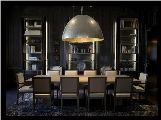 столовая в темных тонах дизайн Тристан Ауэра