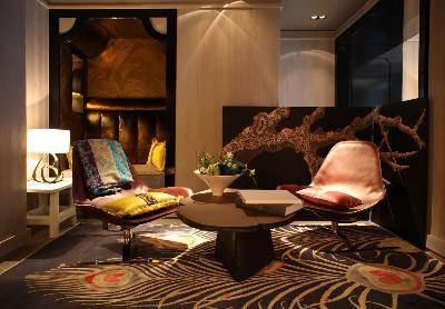 комната с ширмой дизайн Тристан Ауэр
