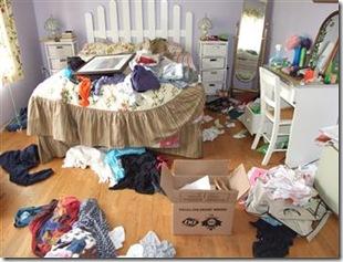 беспорядок в комнате