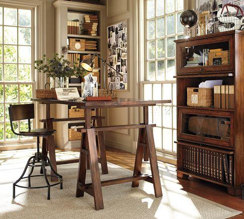 домашний офис - стол и табурет Potterybarn