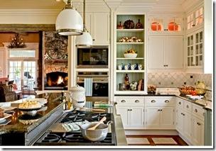 традиционная белая кухня с островом