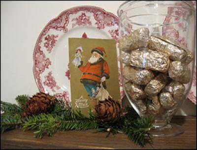 рождественский декор полки