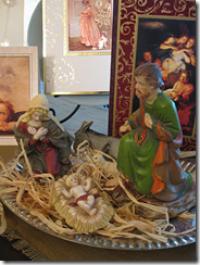 деревянные крашеные фигуры для рождественского ковчега