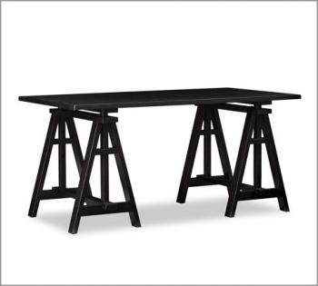 черный рабочий стол из Potterybarn