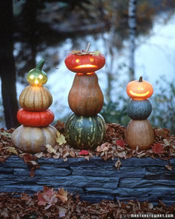 Хэллоуин - композиция из тыкв