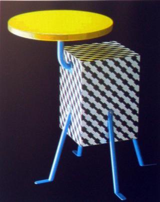 столик для Мемфис дизайн Микеле де Лукки