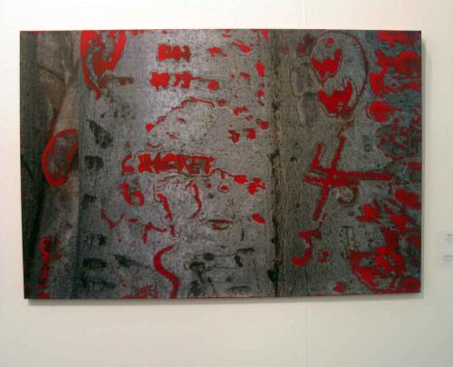 абстрактная работа Олега Тистоля на выставке Арт-Москва 2011