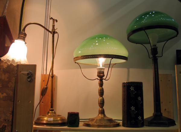 настольные лампы антик с блошиного рынка