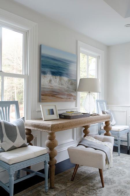 картина с морским пейзажем в интерьере в морском стиле