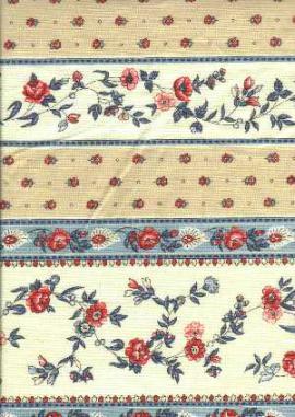 Ткань в цветочек и полоску. Применяется при отделке в стиле прованс в интерьере.