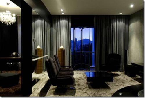 черный цвет в гостиной